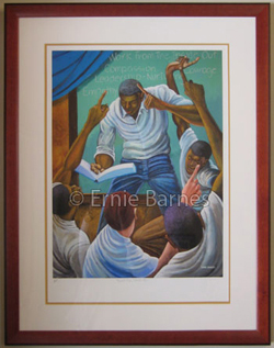 """Each One, Teach One"" by Ernie Barnes"