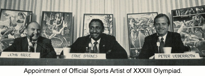 Appoint of Official Sports Artist XXXIII Olympiad.