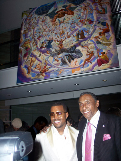 Ernie Barnes and Kanye West